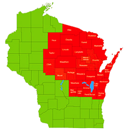 Unions in Wisconsin - click the map of WI